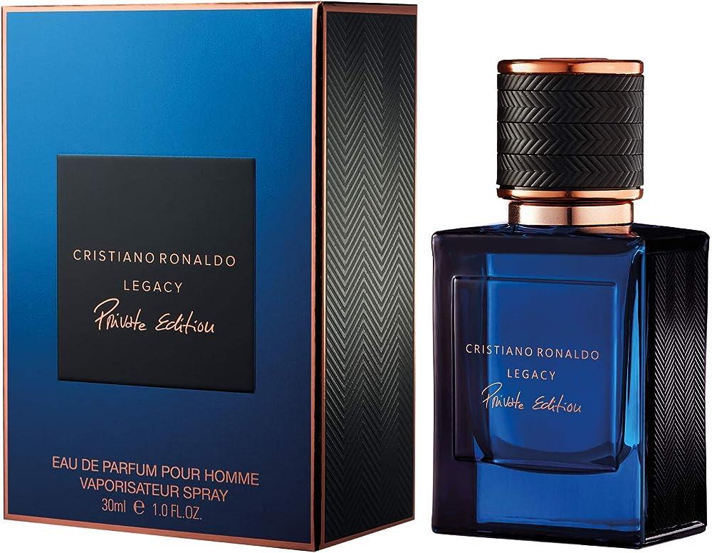 Christiano ronaldo legacy private edition, eau de profumo per uomo, spray, 30 ml 8051196500135