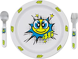 VR46 Valentino Rossi POP Art Baby Meal Set Plastic Cutlery for Kids Toddler