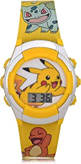 Pokemon Kids' Quartz Watch with Plastic Strap, 16