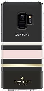 kate spade new york Protective Hardshell Case for Samsung Galaxy S9 - Multi Charlotte Stripe Black / Cream / Blush / Gold