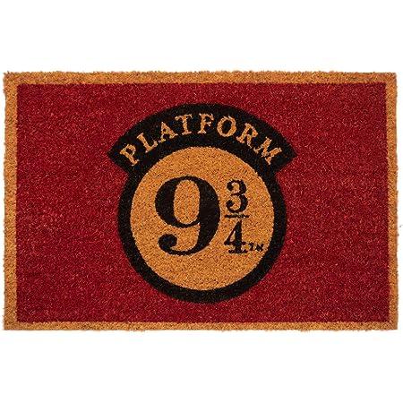 Felpudo Harry Potter Plataforma 9 3/4 - Felpudo entrada casa antideslizante 40 x 60 cm - Alfombra entrada casa exterior, Fabricado en fibra de coco - Productos con licencia oficial
