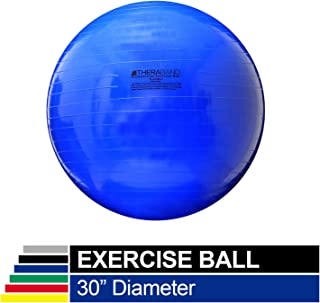 TheraBand Exercise Ball, Stability Ball with 75 cm Diameter for Athletes 6'2