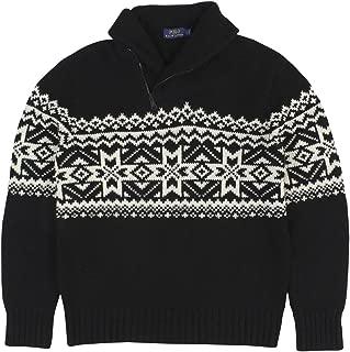 Men's Nordic Pattern Shawl Collar Sweater