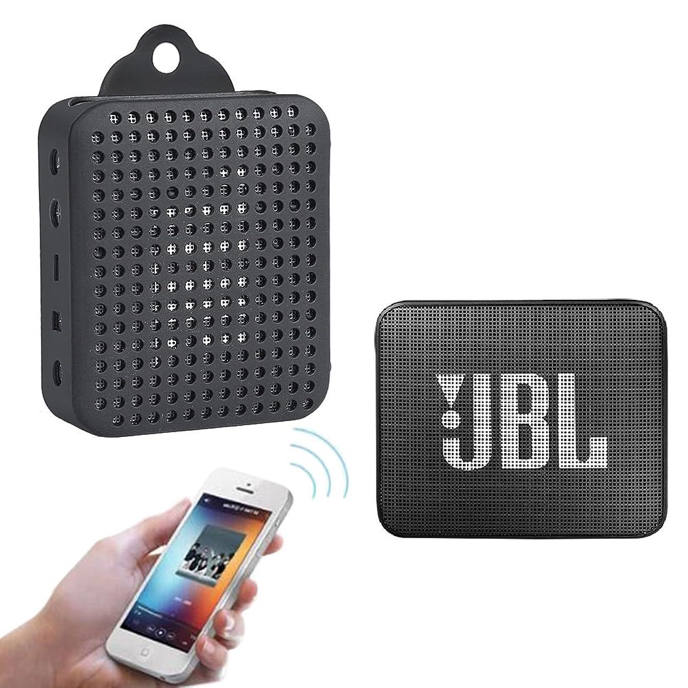 従事した早熟多用途Nice Cool JBL GO 2 Bluetoothスピーカー ケース EVA 保護ボックス 軽量 耐衝撃性 旅行キャリーケース (ブラック)