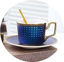 European bone china coffee cup high grade afternoon tea cup set 45% bone china 180ML 1 cup 1 spoon 1 dish,B,180ml