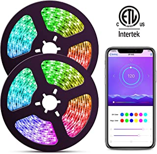 Dream Color LED Strip Lights with APP, ELlight 10m/32.8ft LED Lights with Multicolor Chasing, Waterproof RGB Rope Lights Kit, 300 LEDs SMD 5050 Flexible Strip Lighting for Home Kitchen