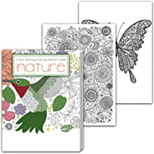Adult Coloring Book with Animal Pictures and Beginners Nature Designs - Stress Relieving Patterns for Men & Women – Paperback with Perforated Pages