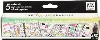 Me & My Big Ideas PRS-01 Roll Fitness Happy Planner Sticker, Multicolor