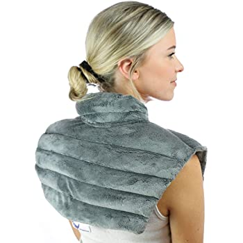 Amazon.com: Heated Microwaveable Neck and Shoulder Wrap