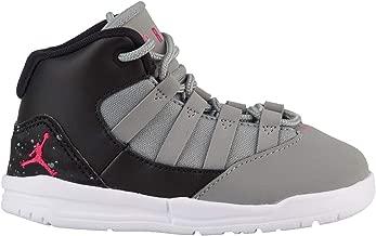 Jordan Toddler Max Aura Shoe, Particle Grey/Rush Pink-Black-White, 4C