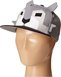 San Diego Hat Company Kids - Flat Bill Adjustable Cap Hat with Geometric Shaped Animal and Ears (Little Kids/Big Kids)