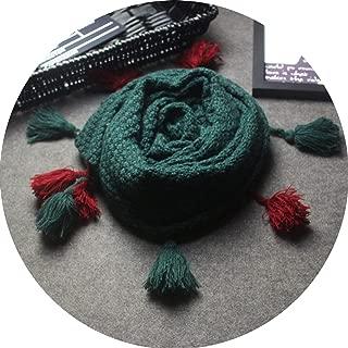 Lantern Tassel Scarf Popcorn Knitted Shawl Autumn Winter Pashmina Collar Scarves Wrap With Fringes