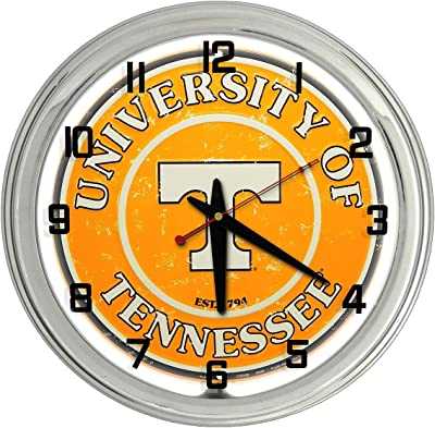 University of Tennessee White Neon clock from Redeye Laserworks