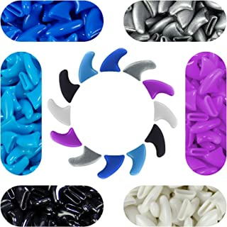 120 pcs Soft Cat Claw Caps Cats Nail Claws 6X Colors + 6X Adhesive Glue + 6X Applicator, Pet Cap Tips Cover Paws Grooming ...