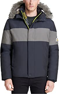 VRY WRM Men's Snokat Polar Oxford Colour Blocked Open Bottom with Removable Hood