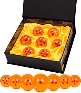 Bolas del Dragón, 7 PCS Dragon Ball DragonBall 1 a 7 Estrellas con Caja de Regalo, Bola de Cristal Transparente,decoración K9,Regalo de Año Nuevo para Coleccionar o Regalar para Niños- Diámetro 4,3cm