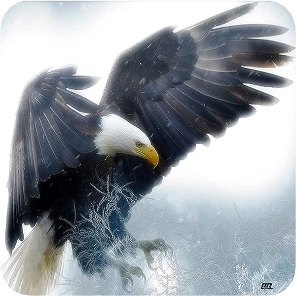 America Bald Eagle Flying Drink Coaster Set Of 4 Gift Bar Kitchen Home Wild Animal