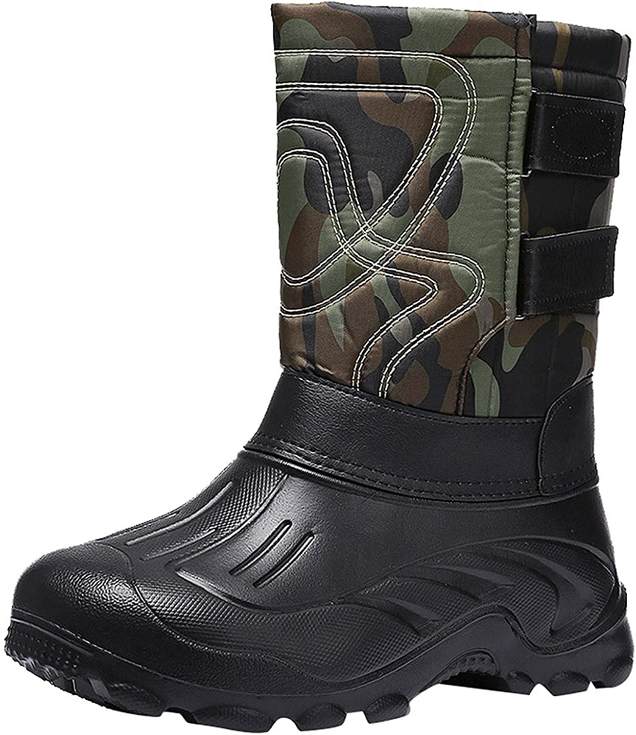 Men's Al sold out. Hiking Snow Boots Waterproof Winter Limited time sale Bo Lined Fur Insulated