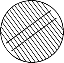 KAMaster 15 in Round Cooking Grate Porcelain Coated Steel Wire Charcoal Cooking Grid Grate BBQ Smokey Grill Enamel Grates Replacement for Grill Dome Medium Big Green Egg Kamado Joe Classic