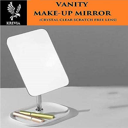 Kriva Metal Desk Table Standing Vanity Mirror For Makeup, 1pc(Assorted Color)