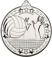 Lapal Dimension Volleybal 'Tri Star' medaille - zilver - 2 in Pack van 10