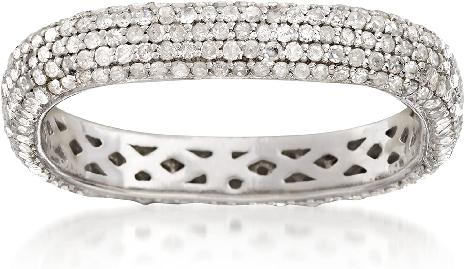 Max 42% OFF 1 year warranty Ross-Simons ct. t.w. Pave in Diamond Squared Eternity Band