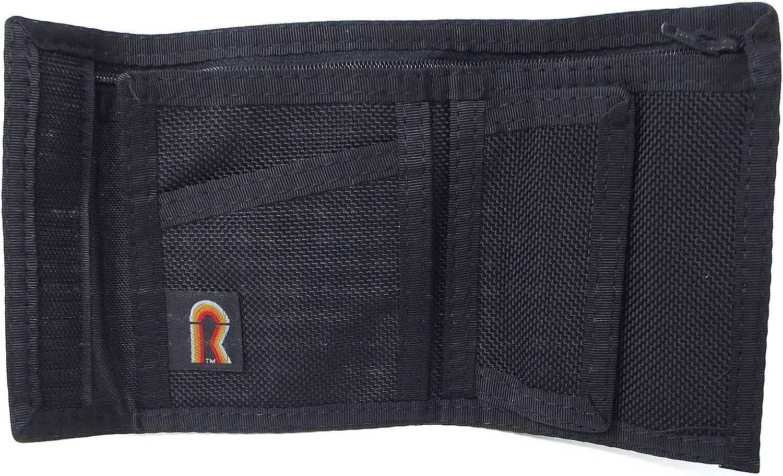 Nylon Ballistic Bifold Wallet Black. Rainbow of California Made in USA. 12BN-BLK