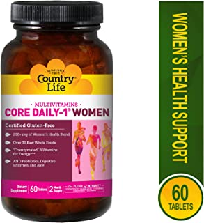 Country Life Core Daily-1 - Dietary Supplement for Women - 60 Tablets, 2 Month Supply