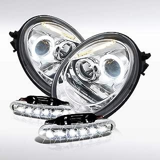 Volkswagen Beetle Halo Projector Headlights+Led Driving Fog Lamps