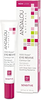 Andalou Naturals 1000 Roses Eye Revive Contour Gel, 0.6 Ounce