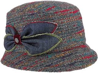 Lierys Cappello da Donna Multicolour Wool-Mix - Made in Italy di Tessuto Invernale con Fodera Autunno/Inverno
