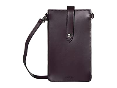 Lodis Accessories Audrey Under Lock Key Phone Crossbody (Deep Plum/Ivy) Handbags