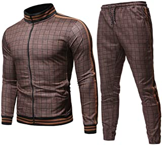 Abetteric Mens Rhinestones Casual Slim Fit 2pcs Set Blazer Jacket Coat