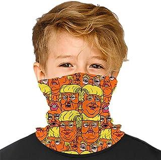 YUSMO 90s Dinosaur Skeleton Pattern Reusable Bandana Kids Dust Face Masks Neck Gaiter Headband