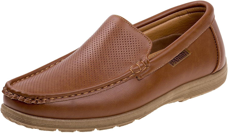 Parish Nation Mens Slip On Perforated Dress shoes