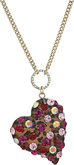 Betsey Johnson - Pink and Gold Long Pendant Necklace