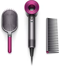 Dyson Supersonic Hair Dryer Special Edition-Complimentary Gift Set Designed Paddle, Iron/Fuchsia (w) Brush/Comb