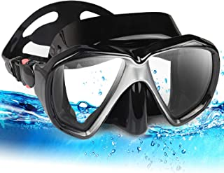 Top studio Snorkel Diving Mask Set, Panoramic HD Scuba Swim Mask, Tempered Anti-Fog Lens Glasses Dive mask, No Leaking Silicone Skirt Swim Goggles for Dry Snorkeling, Swimming, Freediving