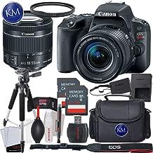 Canon EOS Rebel SL2 DSLR Camera w/ 18-55mm Lens + 32GB Card + Basic Photo Accessory Bundle