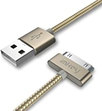 IMKEY Apple Certified 6.5 Feet 30-Pin to USB Sync and Charging Cable for iPhone 4 / 4S, iPhone 3G / 3GS, iPad 1/2 / 3, iPod - (Golden)