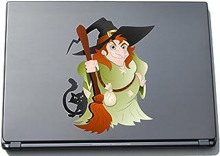 Naklejka na laptopa - czarownica 06 - witch - laptop skin - 150 x 117 mm naklejka