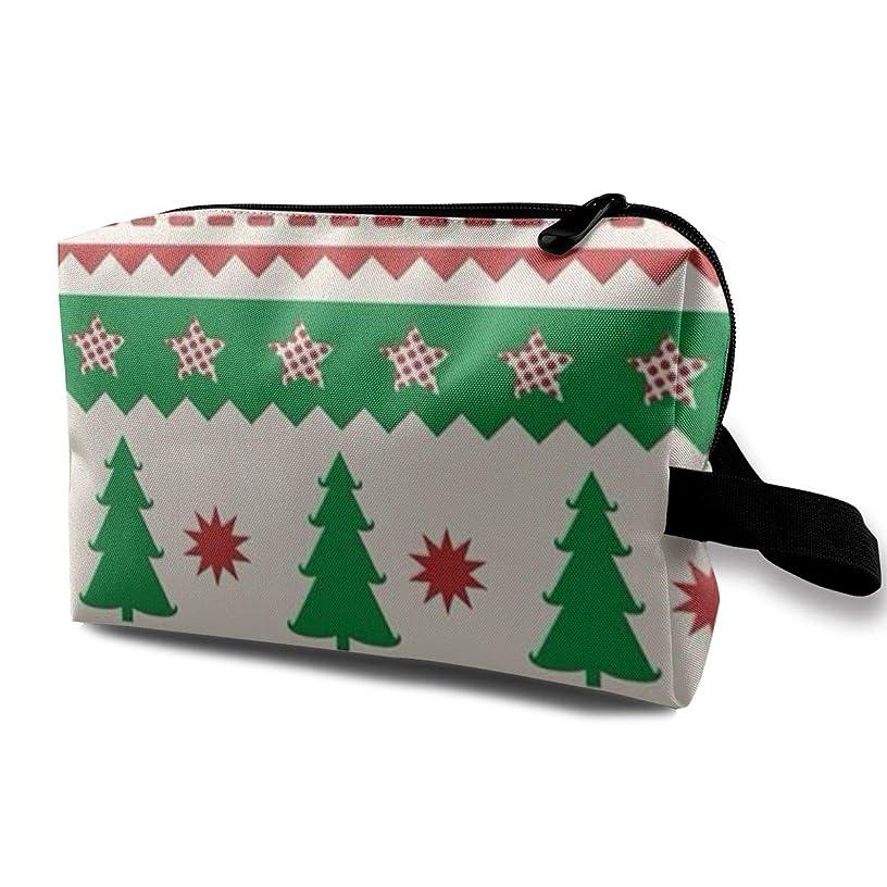 挨拶ユーモラスサラダクリスマス ツリー 化粧ポーチ トイレタリーバッグ トラベルポーチ 洗面用具入れ フルメイクセットバッグ 大容量 化粧品収納 出張 海外 旅行グッズ 育児グッズ レディース インナーバッグ