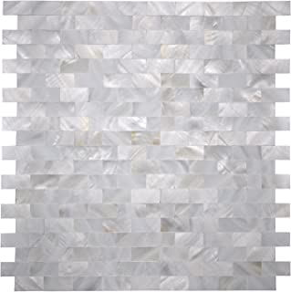 Art3d Mother of Pearl Shell Mosaic Tile for Kitchen Backsplash, 12