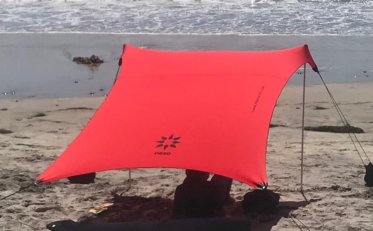 Neso Tents Beach Tent with Sand Anchor, Portable Canopy Sunshade  7' x 7'  Patented Reinforced Corners (color)