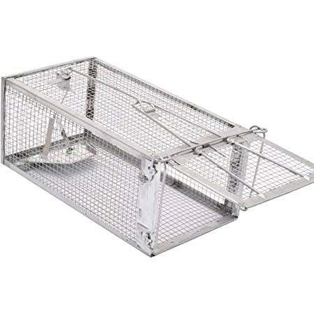 Kensizer Animal Humane Live Cage Trap That Work for Rat Mouse Chipmunk Mice Voles Hamsters and Other Small Rodents, Trampa para Ratones, Catch and Release