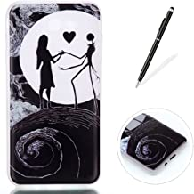 KaseHom Compatible for Samsung Galaxy J7 2017 Silicone Gel TPU Protective Case Nightmare Before Christmas CHSAJ720-17514