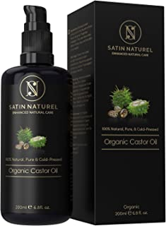 The WINNER 11/19* ORGANIC Castor Oil Vegan + Cold-Pressed for Eyelashes, Hair & Skin Care & Healthy Nails - 200ml Light-Protection Glass Bottle - 100% Pure, Natural, & Native – Natural Cosmetics