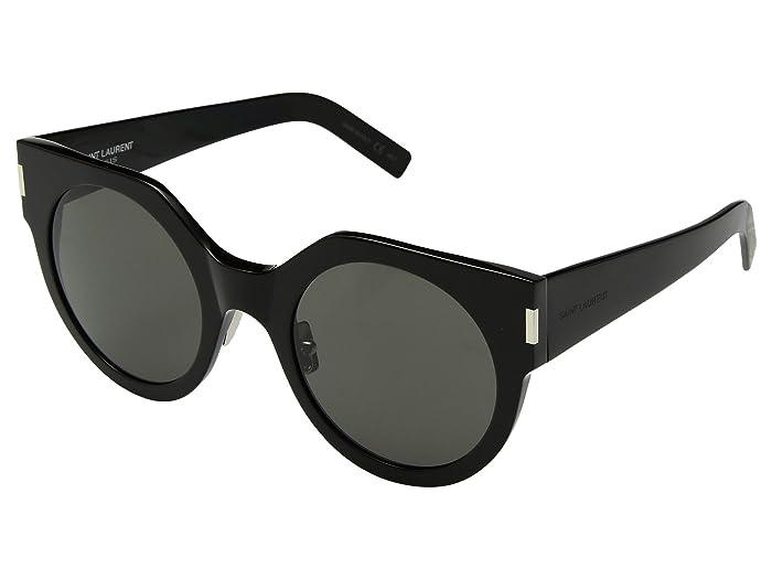 Saint Laurent SL 185 Slim (Black/Grey) Fashion Sunglasses