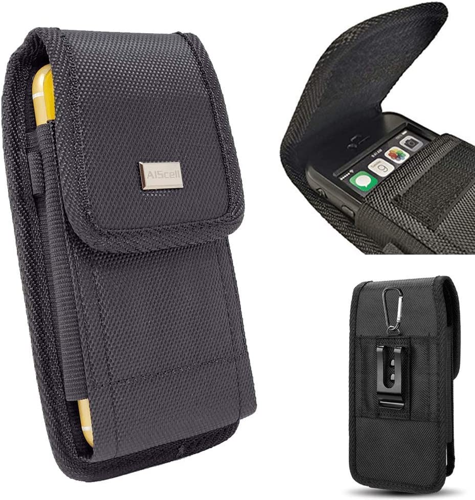 AISCELL Universal Holster Pouch for Black Heavy Max 65% OFF free Cellphone Duty