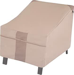 Modern Leisure 2902 Monterey Lounge/Club Patio Chair Cover (35 L x 38 D x 31 H inches) Water-Resistant, Khaki/Fossil
